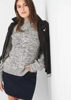 Gap Cable-knit mockneck sweater