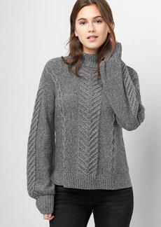 Gap Cable-knit mockneck sweater