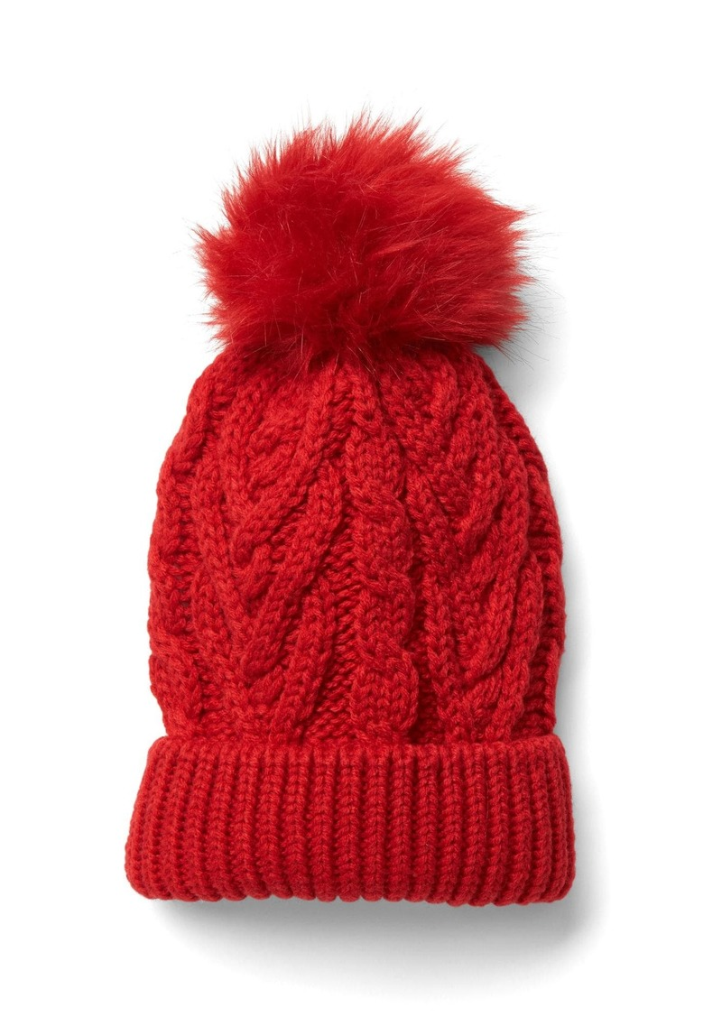 feab2fb210c Gap Cable knit pom-pom beanie