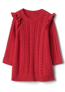 Gap Cable knit ruffle dress
