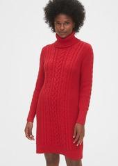 Gap Cable-Knit Turtleneck Dress