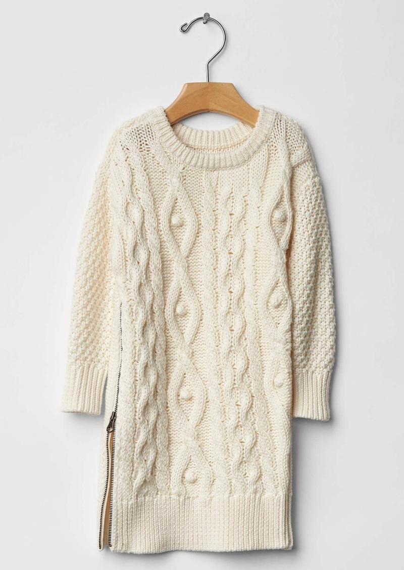 Gap Cable knit zip dress