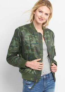 Camo nylon bomber jacket