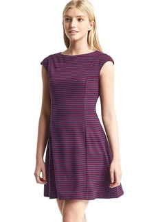 Cap sleeve fit & flare dress