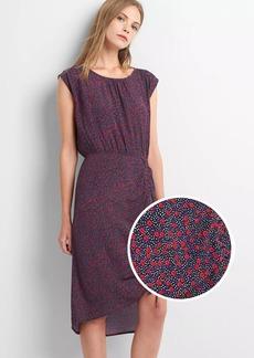 Gap Cap sleeve ruched midi dress