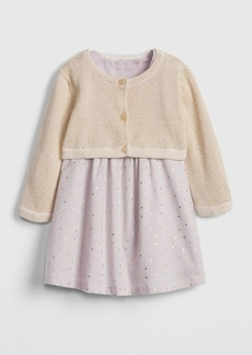 Gap Cardigan Shimmer Dress Set