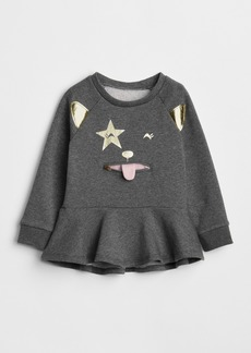 Gap Cat Zip Peplum Sweater