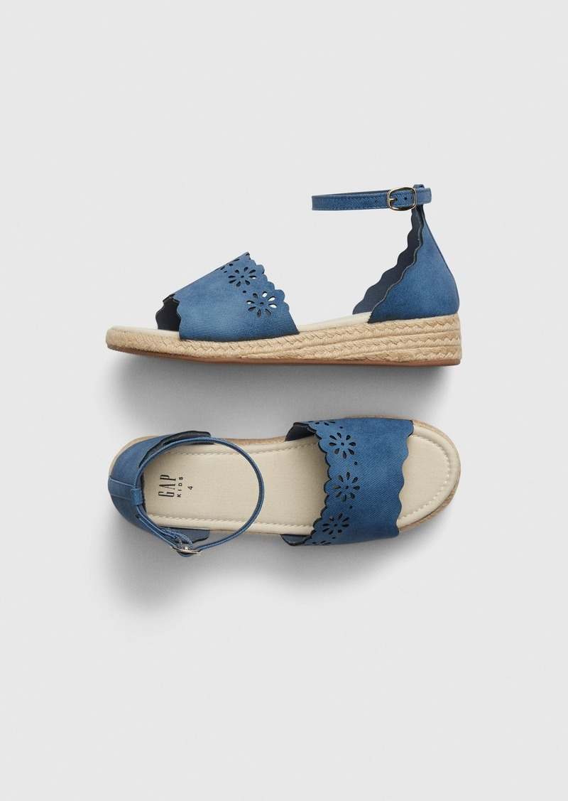 Gap Chambray Eyelet Espadrille Sandals