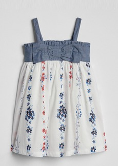 Gap Chambray Floral Dress