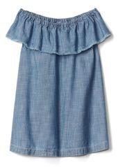 Gap Chambray ruffle dress
