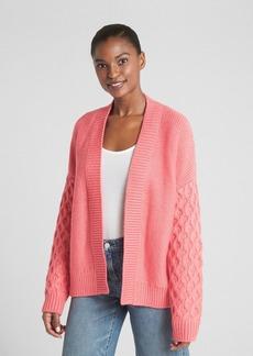 Gap Chunky Mix-Knit Cardigan Sweater