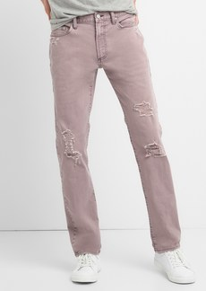 Color Distressed Jeans in Slim Fit with GapFlex