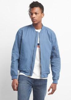 Gap Color Linen Bomber Jacket