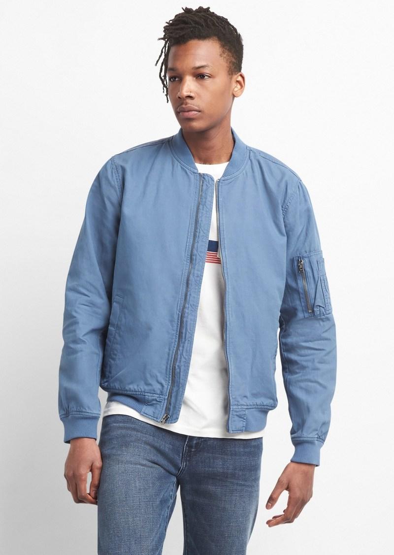 010624ccd Color Linen Bomber Jacket