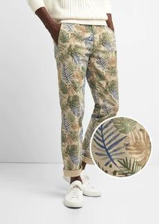 Color Vintage Wash Khakis in Slim Fit with GapFlex