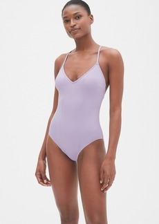 Gap Colorblock Strappy V-Neck One-Piece Suit
