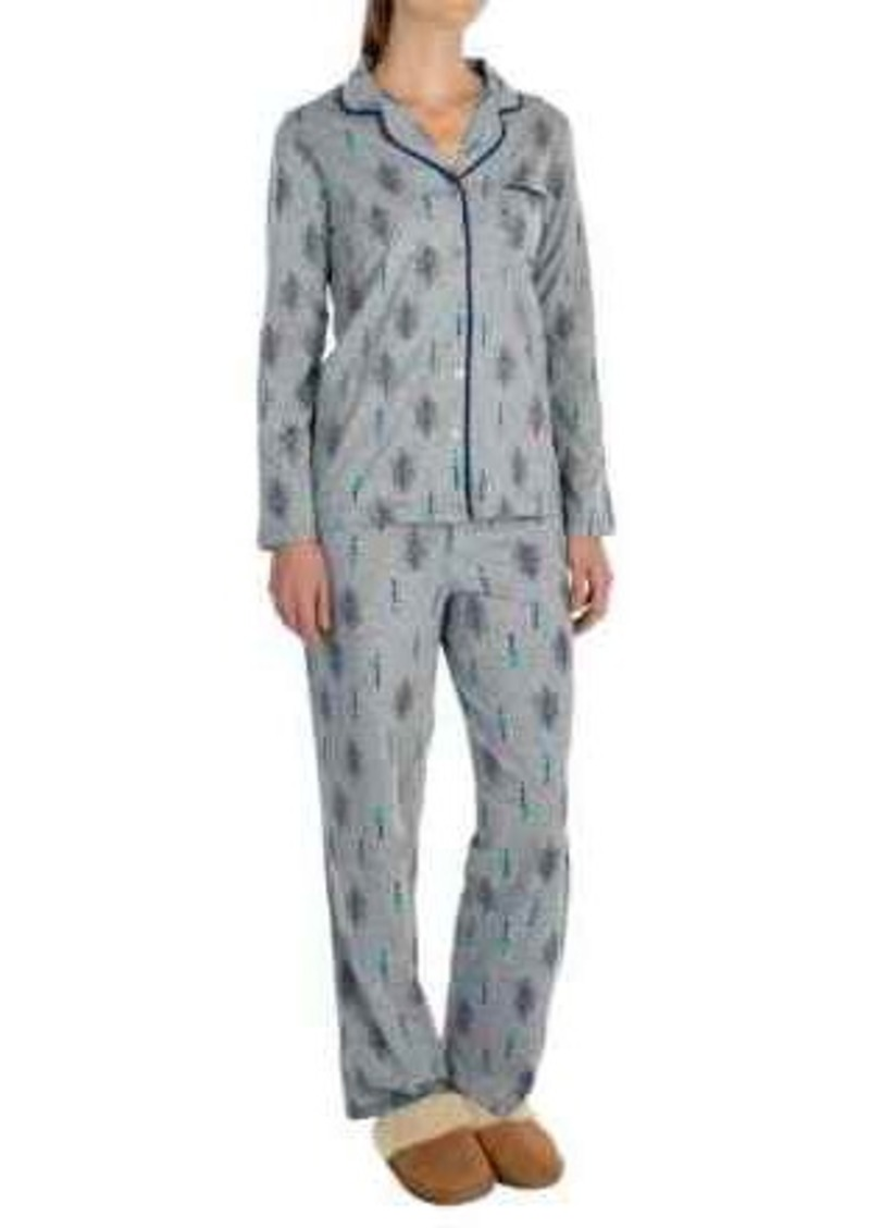 Gap Company Ellen Tracy Classic Peached-Jersey Pajamas - Long Sleeve (For Women)