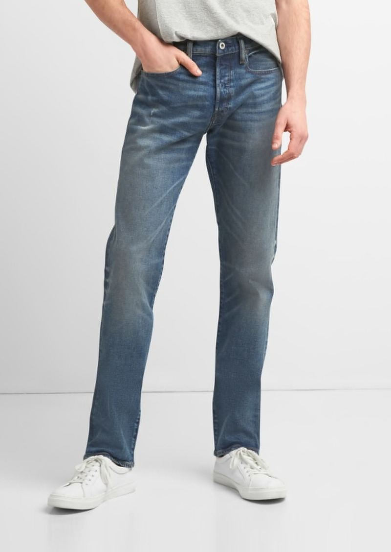 e6a30c30 Cone Denim® Weathered Selvedge Jeans in Slim Fit with GapFlex