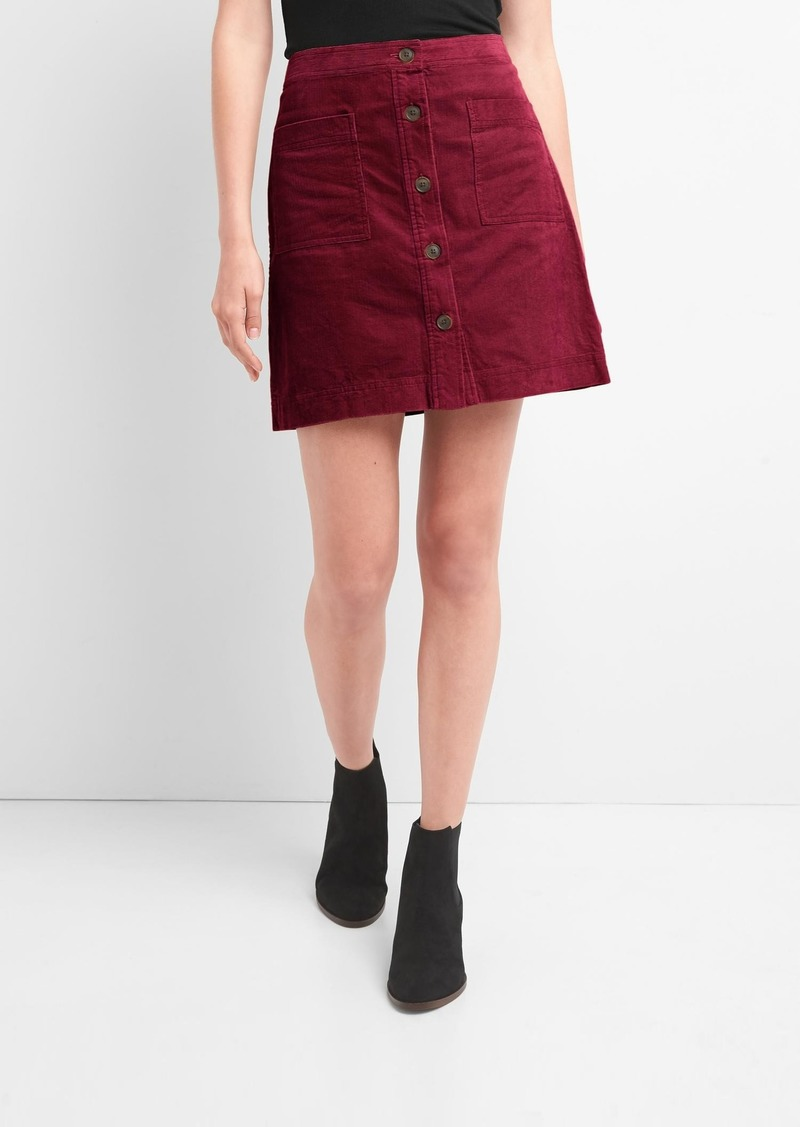 51a0bffc9d Cord Skirt With Buttons – DACC