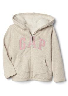 Gap Cozy star logo zip hoodie