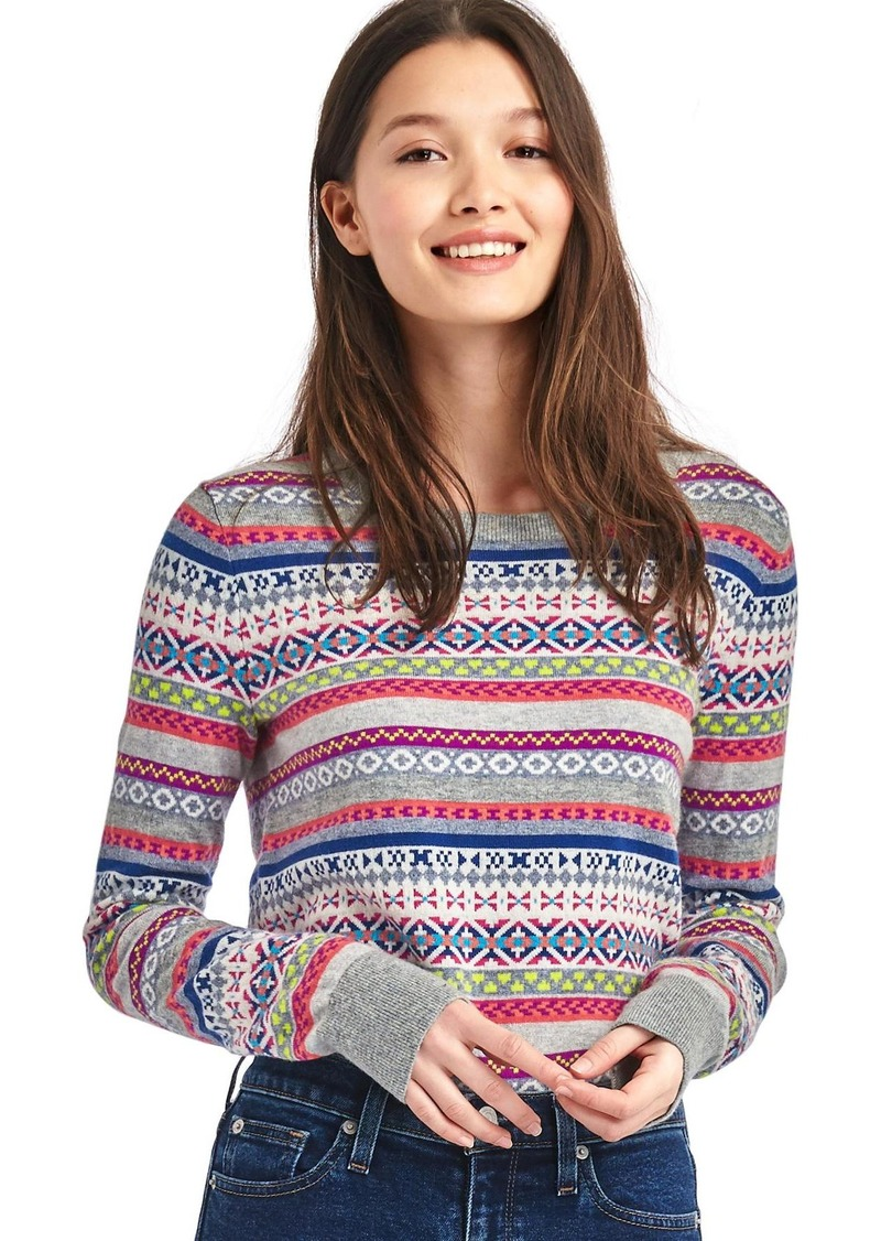 Gap Crazy fair isle merino wool blend sweater | Sweaters - Shop It ...