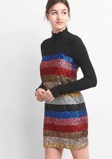 Gap Crazy stripe sleeveless sequin dress