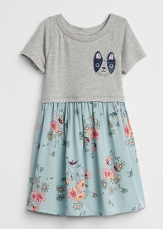 Gap Critter Mix-Fabric Dress