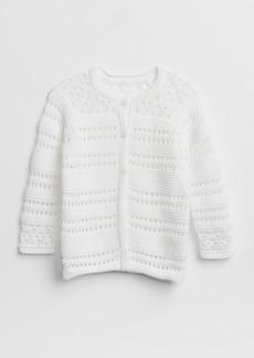 Gap Crochet Cardigan Sweater