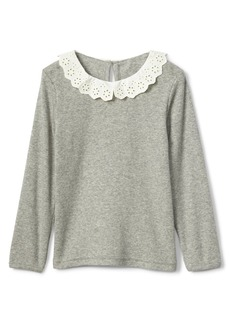 Gap Crochet collar ribbed top