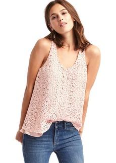 Gap Crochet lace scoop tank