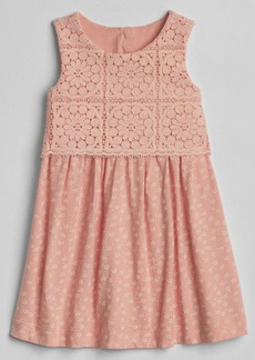 Gap Crochet Mix-Fabric Dress