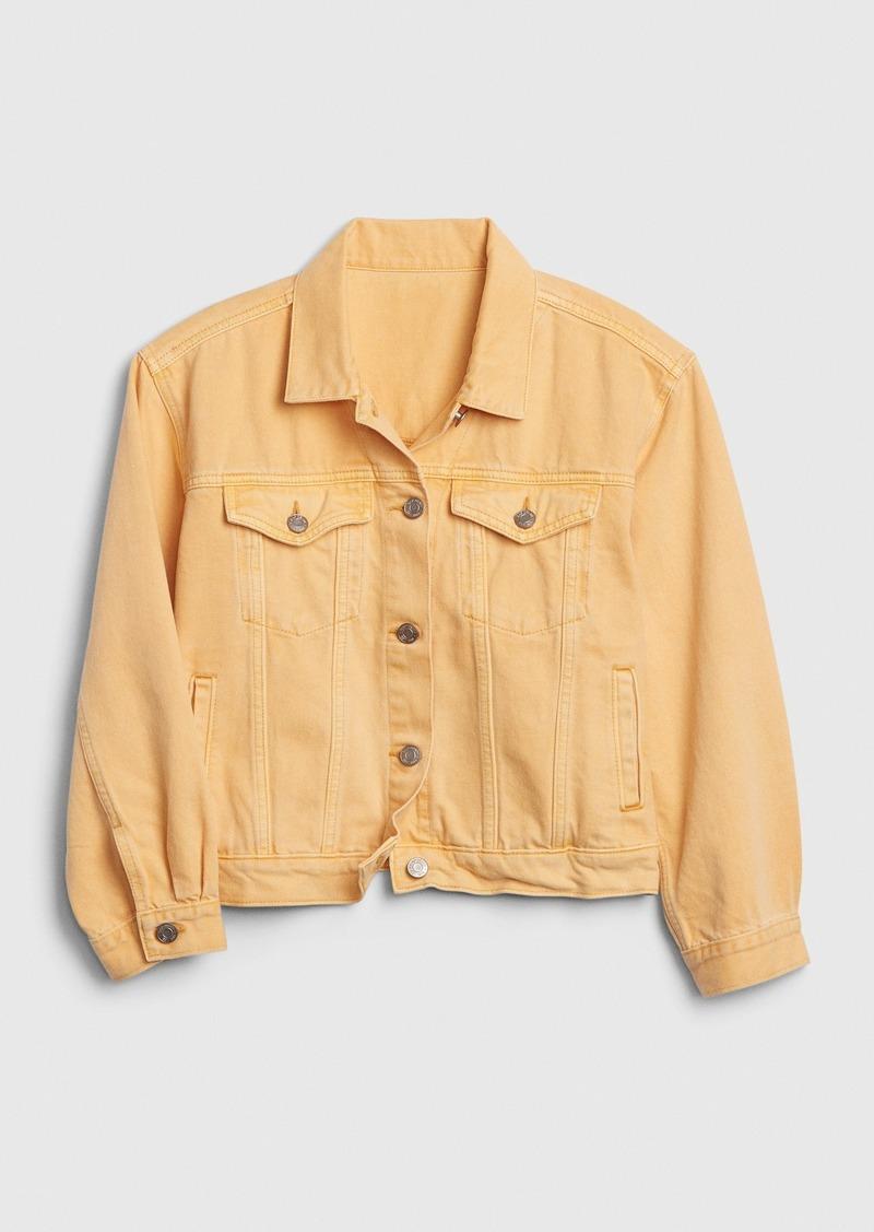 Gap Crop Icon Denim Jacket