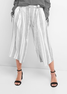 Crop stripe wide leg pants