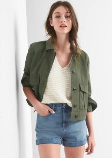 Crop utility jacket