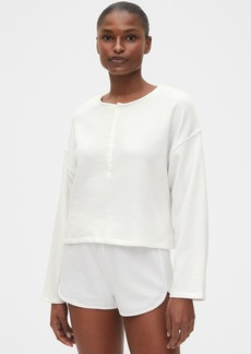 Gap Cropped Lounge Top in French Terry