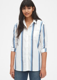 Gap Cross-Button Boyfriend Shirt