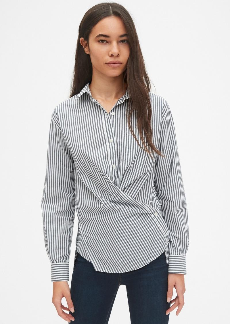 Gap Cross-Button Boyfriend Shirt