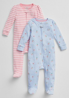 Gap Cuddle & Play Footed One-Piece (2-Pack)