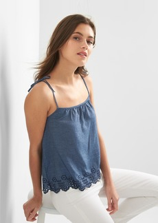 Gap Denim eyelet crop cami
