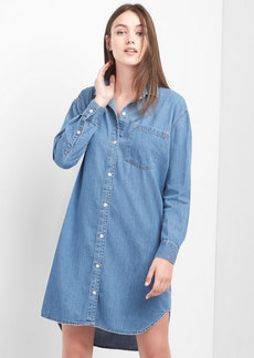 Denim girlfriend shirtdress