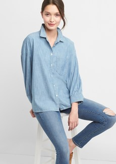 Gap Denim oversize cocoon shirt
