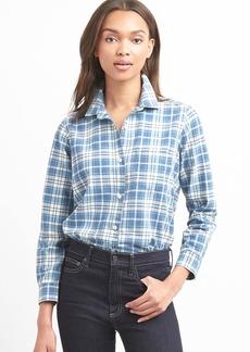 Gap Denim plaid shirt