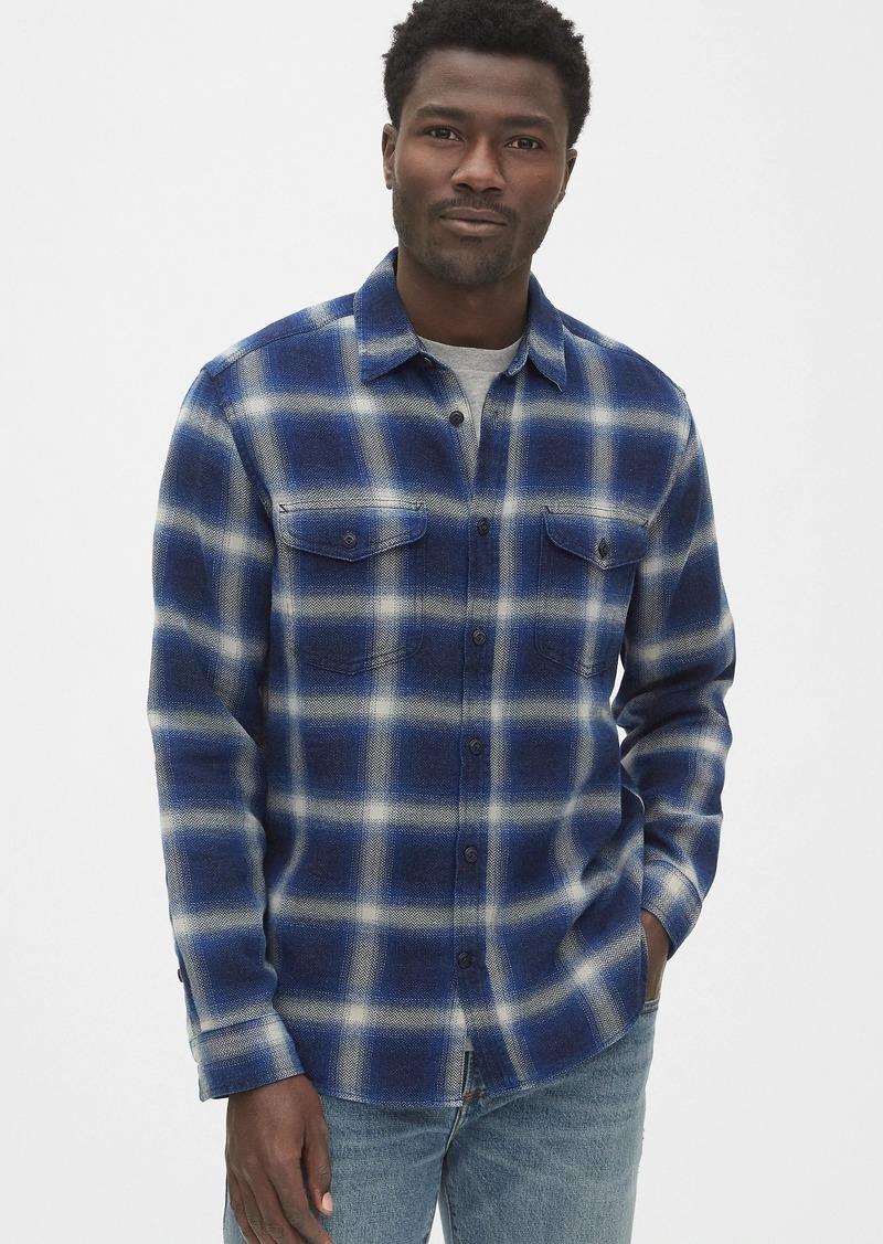 Gap Denim Plaid Work Shirt