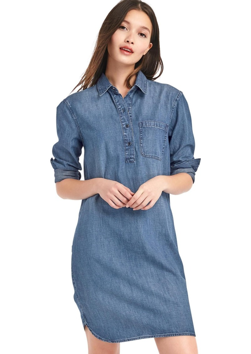 SALE! Gap Denim popover shirtdress