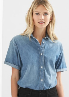Gap Denim roll-sleeve shirt