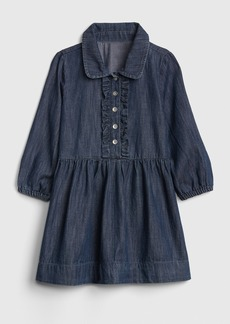 Gap Denim Ruffle Dress