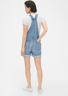 Gap Denim Shortalls With Raw Hem