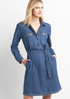 Denim utility shirtdress