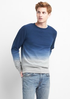 Gap Dip-Dye Pullover Crewneck Sweatshirt in French Terry