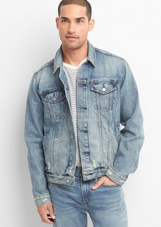 Gap Distressed Icon Denim Jacket